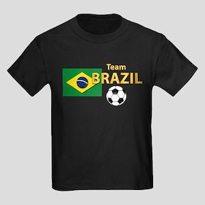 Team Brazil/Brasil - Soccer Kids Dark T-Shirt