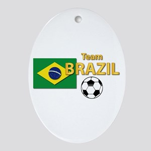Team Brazil/brasil - Soccer Ornament (oval)