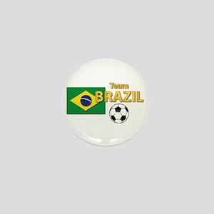 Team Brazil/Brasil - Soccer Mini Button