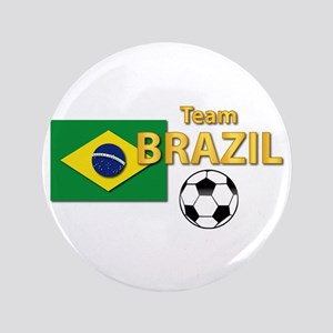 "Team Brazil/Brasil - Soccer 3.5"" Button"