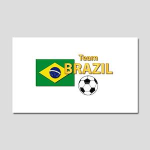 Team Brazil/Brasil - Soccer Car Magnet 20 x 12