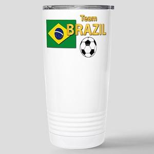 Team Brazil/Brasil - S Stainless Steel Travel Mug