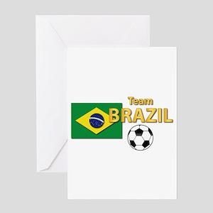 Team Brazil/Brasil - Soccer Greeting Card