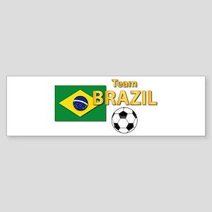 Team Brazil/Brasil - Soccer Sticker (Bumper)