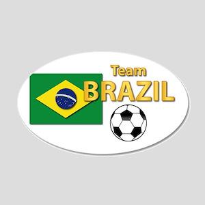 Team Brazil/Brasil - Soccer 20x12 Oval Wall Decal