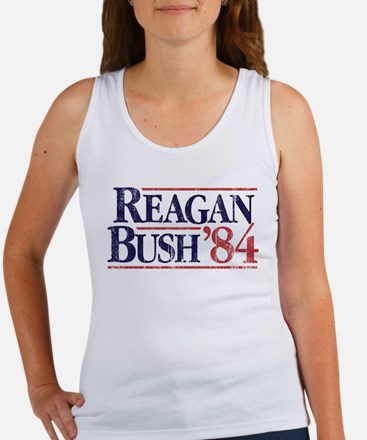 Reagan84-tee WHT Tank Top