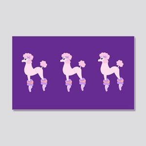 Perfectly Pink Poodle Wall Decal