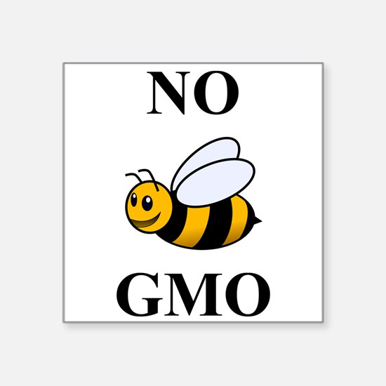 "Cute Gmo foods Square Sticker 3"" x 3"""