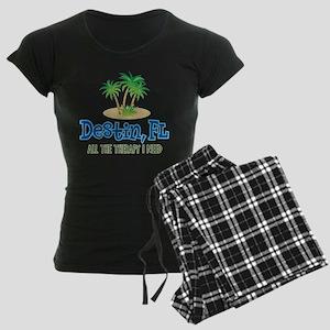 Destin Florida Therapy - Women's Dark Pajamas