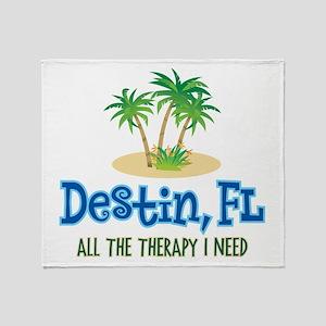 Destin Florida Therapy - Throw Blanket