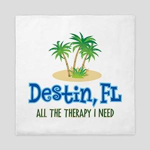 Destin Florida Therapy - Queen Duvet