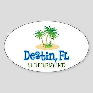Destin Florida Therapy - Sticker (Oval)