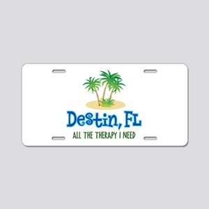 Destin Florida Therapy - Aluminum License Plate