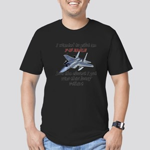 F-15 Eagle Humour Men's Fitted T-Shirt (dark)