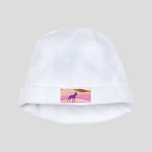 Boston Terrier Retro Hills baby hat