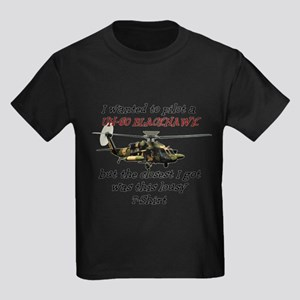 UH-60 Black Hawk Humour Kids Dark T-Shirt