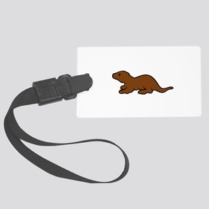 Cute Otter Large Luggage Tag