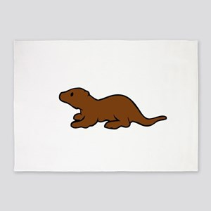 Cute Otter 5'x7'Area Rug
