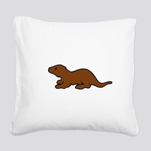 Cute Otter Square Canvas Pillow