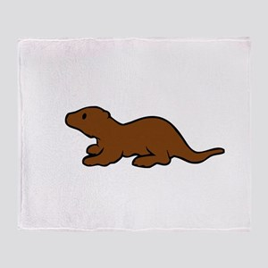 Cute Otter Throw Blanket