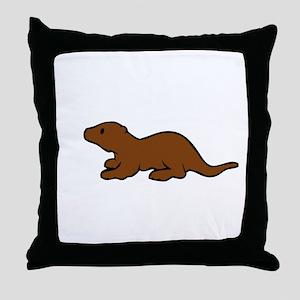 Cute Otter Throw Pillow