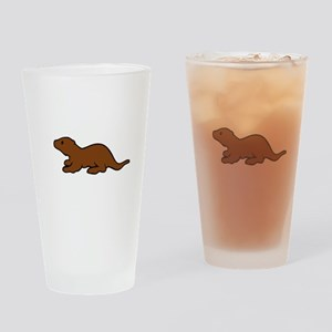 Cute Otter Drinking Glass