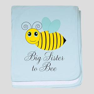 Big Sister to Bee baby blanket