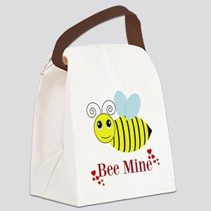 Bee Mine Honey Bee Canvas Lunch Bag