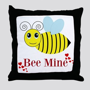 Bee Mine Honey Bee Throw Pillow