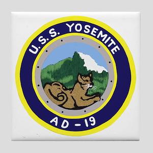 USS Yosemite (AD 19) Tile Coaster
