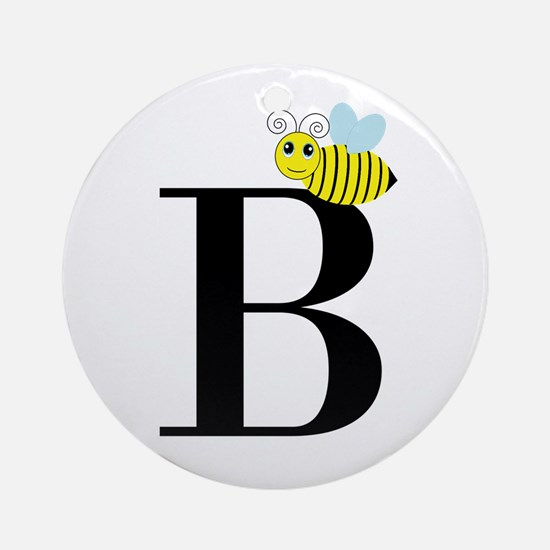 B is for Bee Ornament (Round)