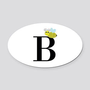 B is for Bee Oval Car Magnet