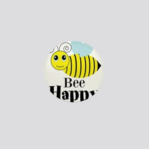 Bee Happy Honey Bee Mini Button