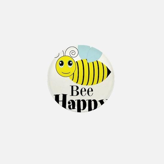 Bee Happy Honey Bee Mini Button