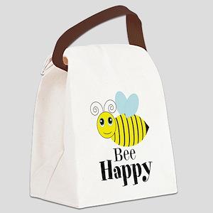 Bee Happy Honey Bee Canvas Lunch Bag