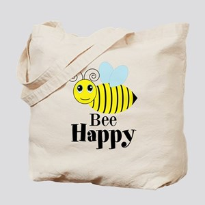 Bee Happy Honey Bee Tote Bag