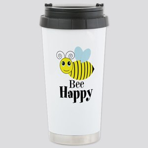 Bee Happy Honey Bee Travel Mug
