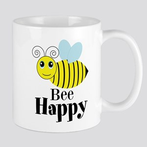 Bee Happy Honey Bee Mugs