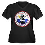 USS FURSE Women's Plus Size V-Neck Dark T-Shirt