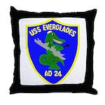 USS Everglades (AD 24) Throw Pillow