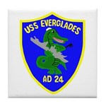 USS Everglades (AD 24) Tile Coaster