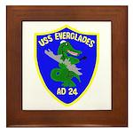 USS Everglades (AD 24) Framed Tile