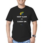 Keep Clam Men's Fitted T-Shirt (dark)