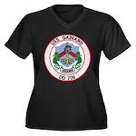 USS GAINARD Women's Plus Size V-Neck Dark T-Shirt