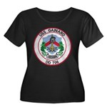 USS GAIN Women's Plus Size Scoop Neck Dark T-Shirt