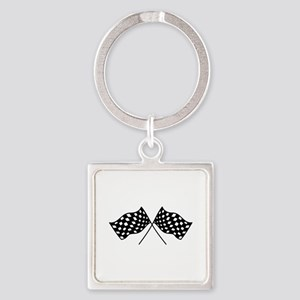 Checkered Flags Keychains