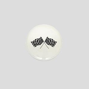 Checkered Flags Mini Button