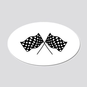 Checkered Flags Wall Decal
