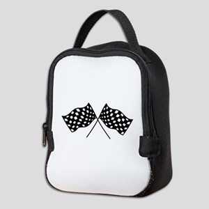 Checkered Flags Neoprene Lunch Bag