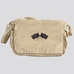 Checkered Flags Messenger Bag